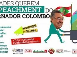 Entidades querem o impeachment do governador Colombo